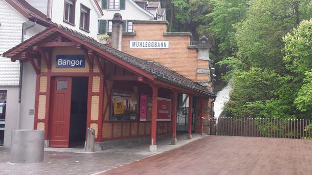 Die Talstation der Mühleggbahn.