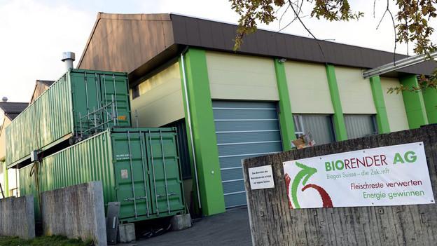 Die Anlage der Firma Biorender wird demnächst versteigert.