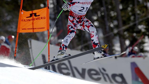 Firmenlogos bei Skirennen