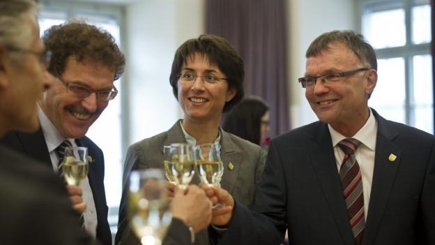 Gruppenbild der Thurgauer Regierung