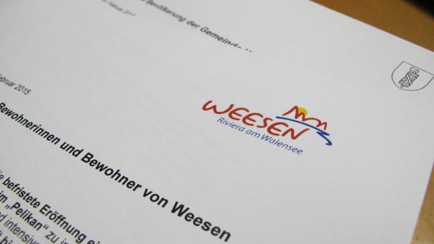 Der Kanton und die Gemeinde informierten die Bevölkerung von Weesen je mit einem Informationsblatt.