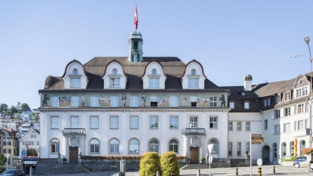 Blick auf das Ausserrhoder Regierungsgebäude in Herisau.