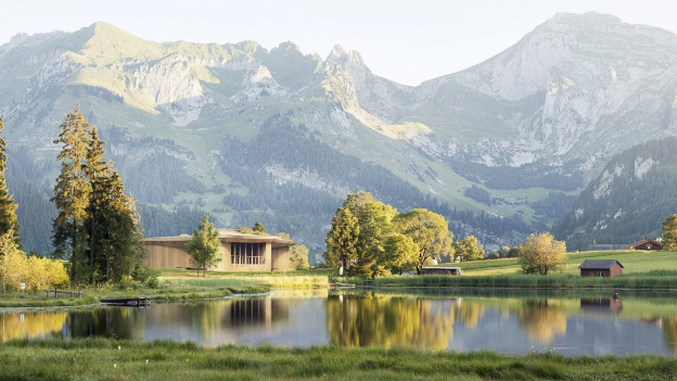 Das Klanghaus Toggenburg soll einst am Schwendisee stehen wie ein Art grosses Instrument.