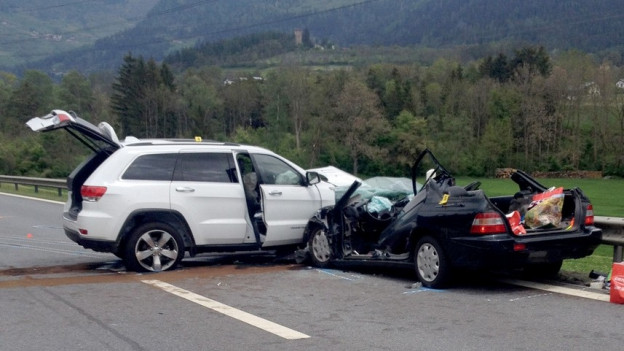 Auf der A13 bei Cazis erreignete sich im vergangenen Mai ein schwerer Unfall.