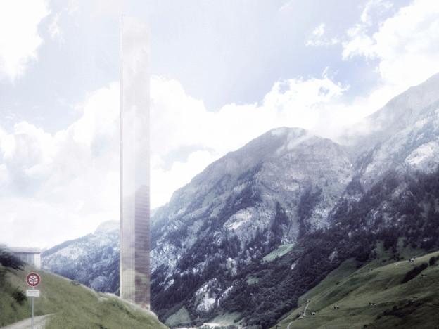 Hotelprojekt mit den 381 Meter hohen Turn in Vals