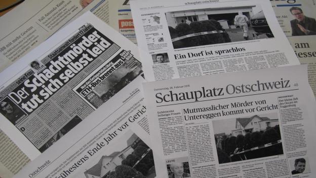 Der Fall Untereggen war immer wieder ein Thema in den Medien.