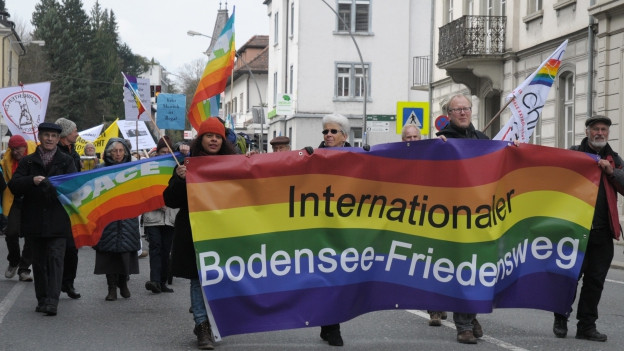 Teilnehmer am Ostermarsch