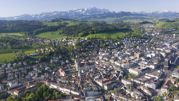 Stadt St. Gallen aus der Luft