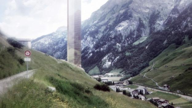 Der Turm bedroht das Walser Mineralwasser.