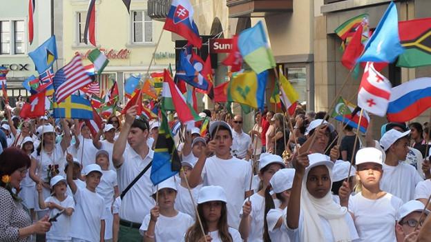 Kinderfeststimmung in St. Gallen