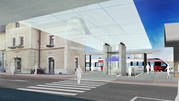 Für die S-Bahn FL.A.CH muss der Bahnhof Schaan-Vaduz ausgebaut werden.