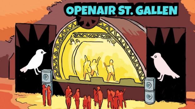 Den Abfall am OpenAir St. Gallen selber verräumen