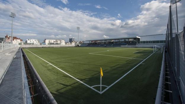 Blick auf das umgebaute Fussballstadion Bergholz des FC Wil