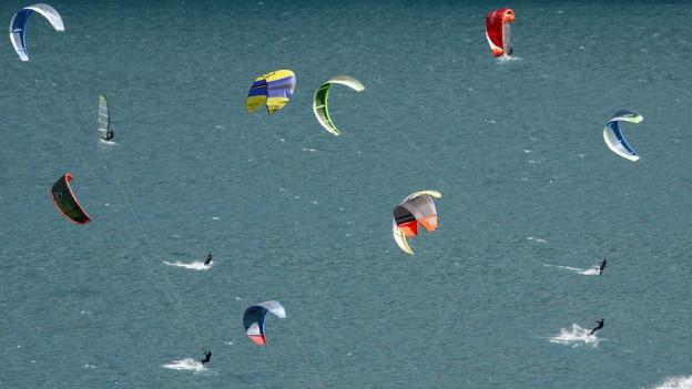 Kitesurfer dürfen in Schutzgebieten ihren Sport nicht ausüben.
