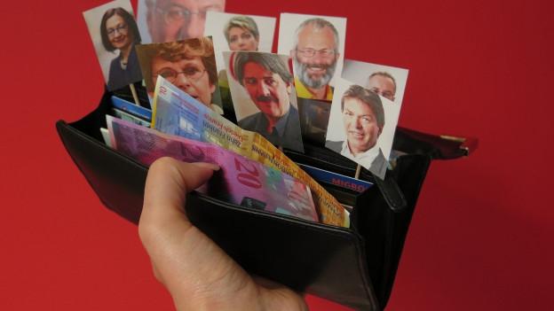 Einige Parteien geben 10'000 Franken aus, andere haben weit mehr Geld zur Verfügung.