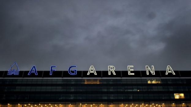 Beschriftung der AFG-Arena