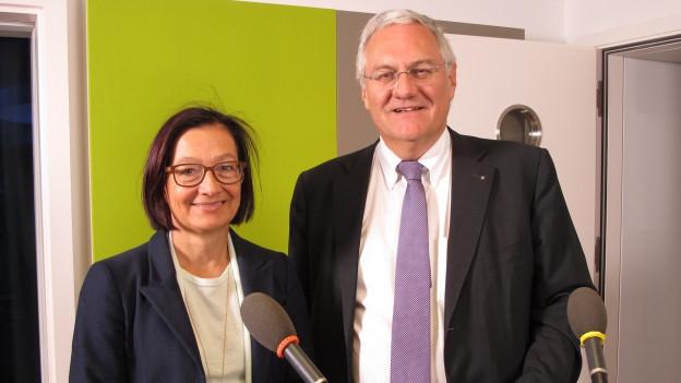 Yvonne Gilli Grüne und Thomas Müller SVP, St. Galler Ständeratskandidaten