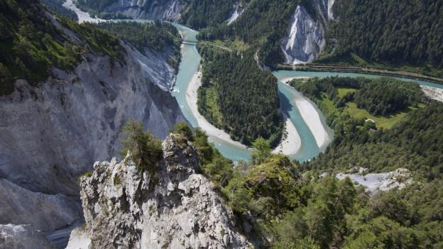 Der Wanderweg durch die Rheinschlucht, unterhalb von Flims, soll in den Richtplan.