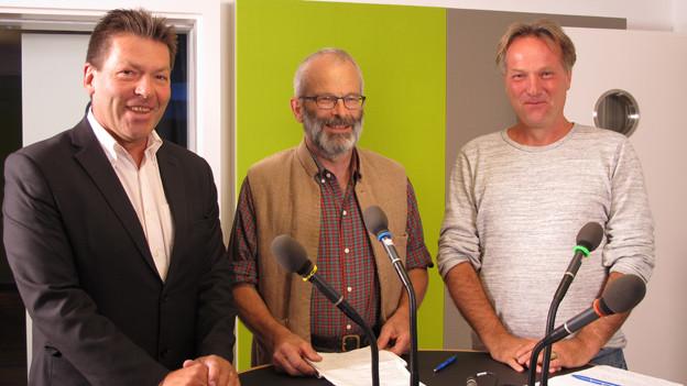 Hans Oppliger EVP, Richard Ammann BDP und Andreas Graf parteifrei, Ständeratskandidaten SG