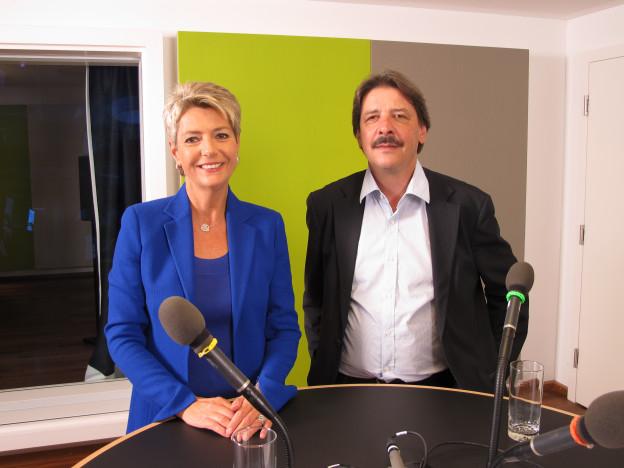 Karin Keller-Sutter und Paul Rechsteiner, Ständeratskandidaten SG