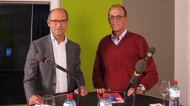 Daniel Fässler (CVP) und Martin Pfister (SP) im Live-Gespräch.