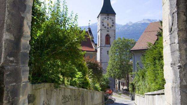 Blick auf die evangelische Kirche St. Martin in Chur.