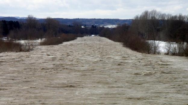 Bauernproteste wegen Hochwasserschutz
