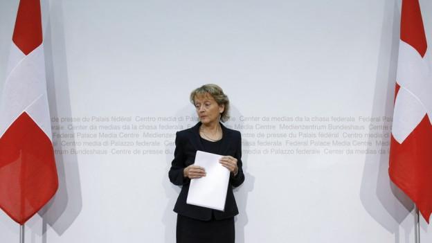 Will nicht mehr: Bundesrätin Eveline Widmer Schlumpf tritt zurück.