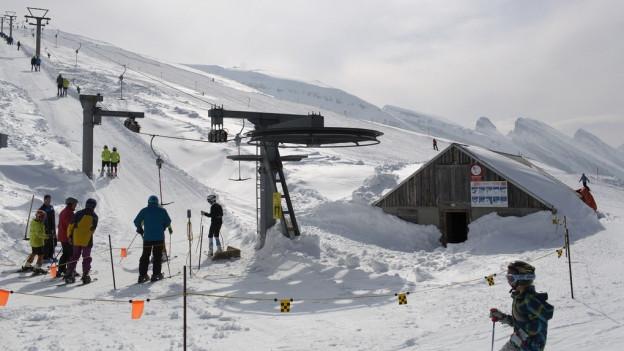 Skigebiet Wildhaus im Obertoggenburg.