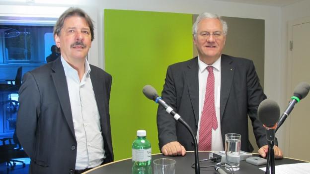 Wollen beide in den Ständerat: Paul Rechsteiner (SP) und Thomas Müller (SVP, rechts).