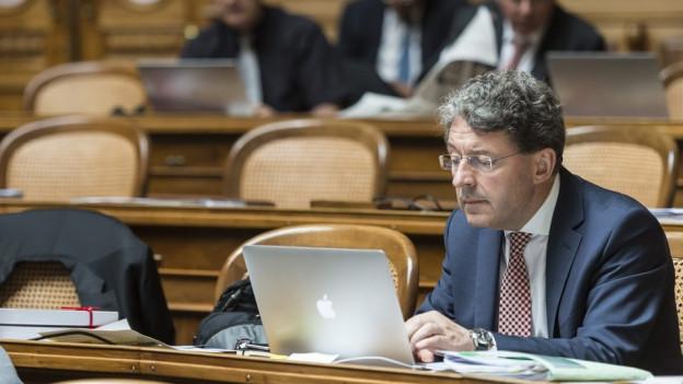 Heinz Brand bleibt im Nationalrat. Er wird von seiner Partei nicht zur Wahl in den Bundesrat vorgeschlagen.