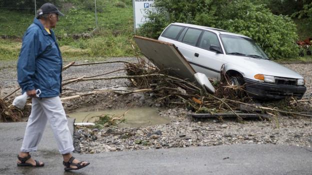 Das Hochwasser von 2005 ist in Glarus unvergessen. (Symbolbild)