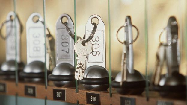 Zimmerschlüssel bleiben hängen