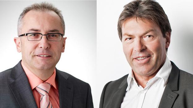 Die beiden Ständerats-Kandidaten: Thomas Ammann (CVP) und Richard Ammann (BDP) .