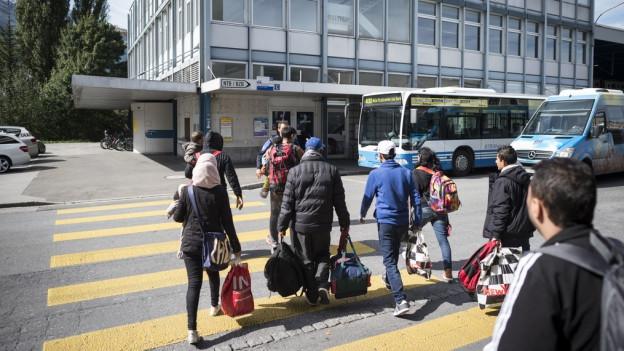Flüchtlinge in Buchs