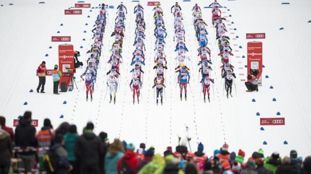 Rund 27'000 Zuschauer verfolgten die Rennen auf der Lenzerheide.