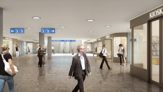 Der St. Galler Bahnhof wird ausgebaut.