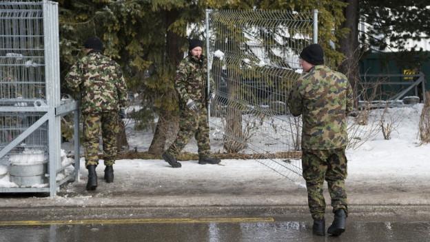 Sicherheitskräfte am WEF