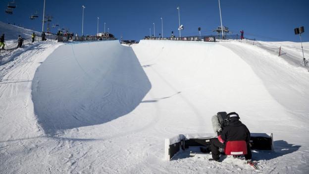 Beim Laax Open treffen sich jedes Jahr die besten Snowboarder der Welt.