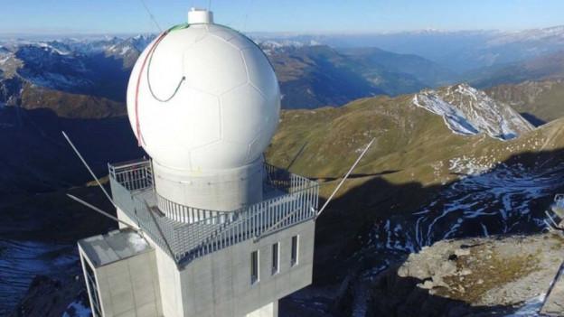 Das Radarauge vom Weissfluhgipfel