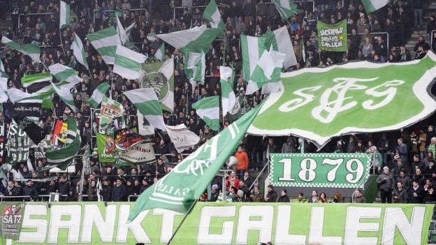 St. Galler Fans in der AFG-Arena