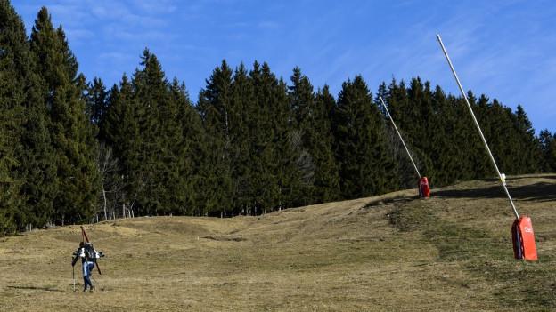 Trotz Schneemangel zahlt der Kanton Graubünden keine Entschädigung.