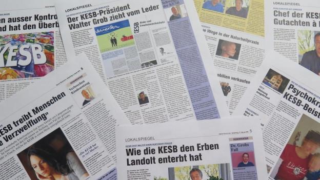 Die «Obersee Nachrichten» berichten regelmässig über Fälle der KESB Linth.