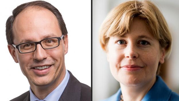 Porträts von Marc Mächler und Esther Friedli