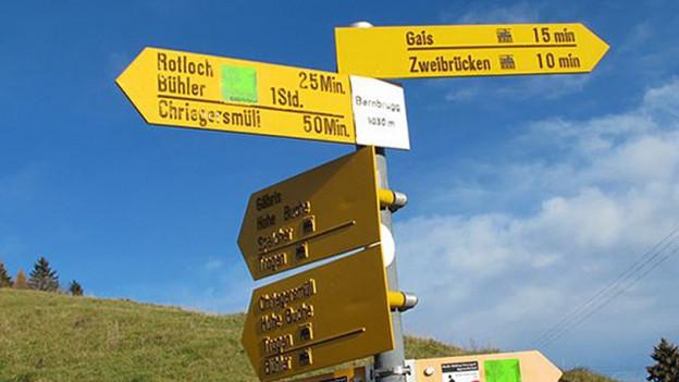 730 Kilometer Wanderwege bilden in Appenzell Ausserrhoden das gesamte Wanderwegnetz.