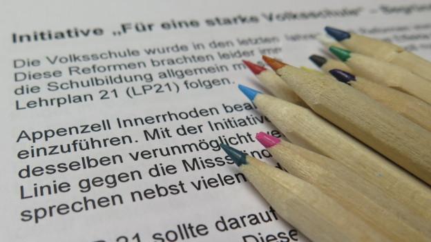 Initiative gegen den Lehrplan 21 kommt zur Abstimmung