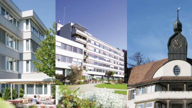 Die drei Spitäler im Kanton Appenzell Ausserrhoden