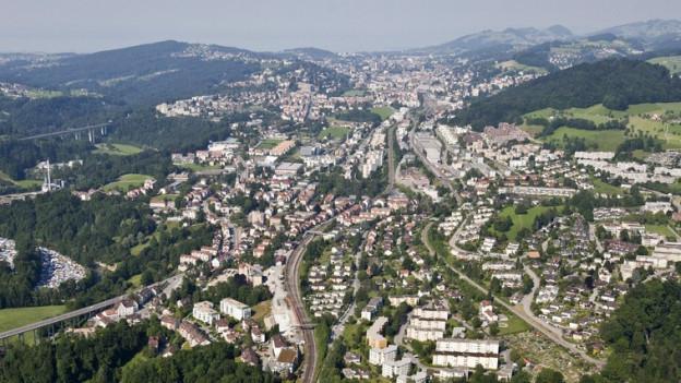 Luftbild von St. Gallen