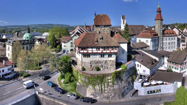 Der bisherige Standort, das Schloss Frauenfeld (Bildmitte), ist zu klein für das Historische Museum Thurgau.