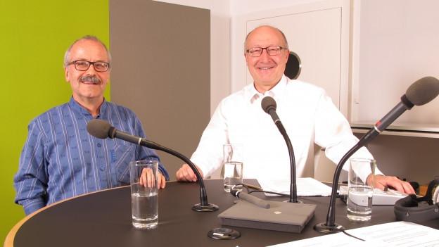 Peter Hartmann (SP) und Walter Locher (FP) im Streitgespräch.